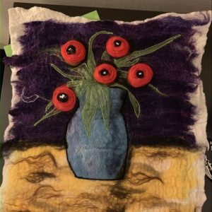 Still life composed of felted materials