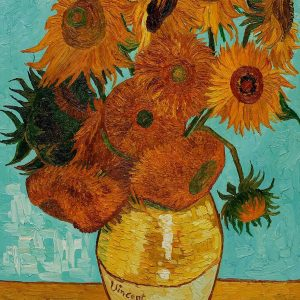 Copy of a Van Gogh sunflower painting