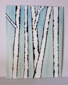 Photo of a birch painting