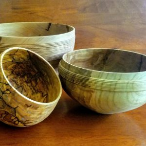 Selection of wooden bowls