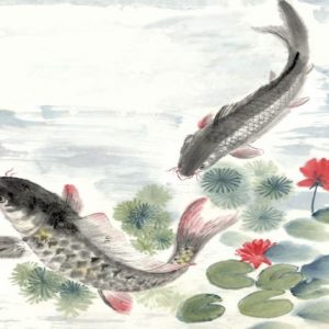 Painting of Fish in Pond