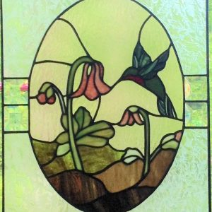 Photo of a stained glass panel
