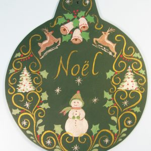Painted Christmas ornament