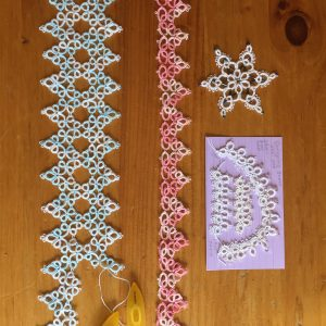 Photo of examples of tatting