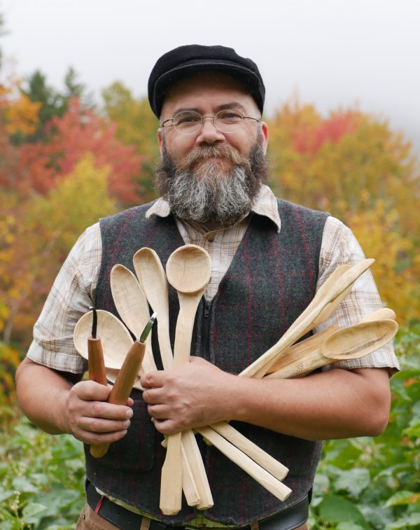 Andre with some of his spoons and tools