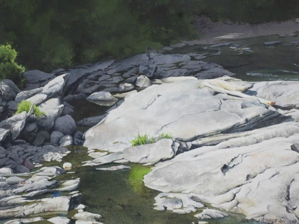 Watercolor painting of Cavendish Gorge