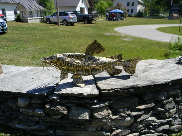 Steel and brass fish