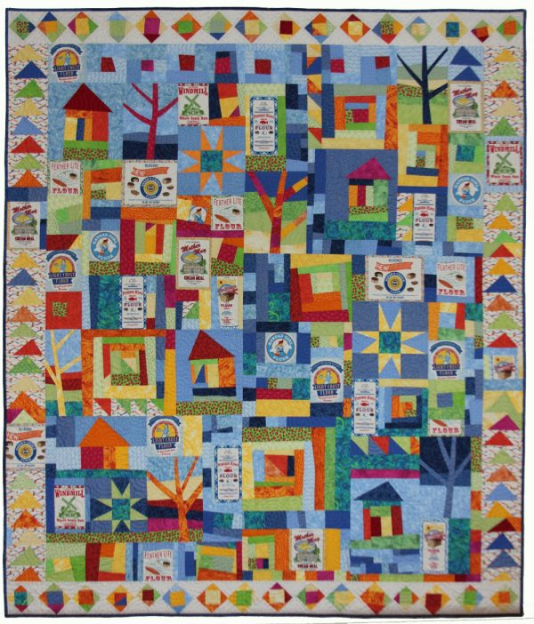 Happy Scraps and Flour Sacks Quilt