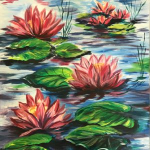 Painted Lotus Flowers