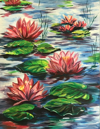 Painted Lotus Flowers
