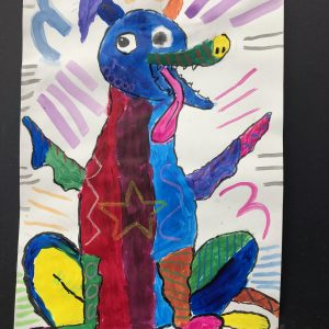 Child's Painting of a Dragon