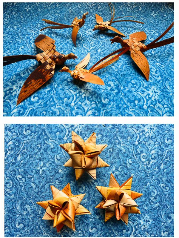 Birch Bark Ornaments